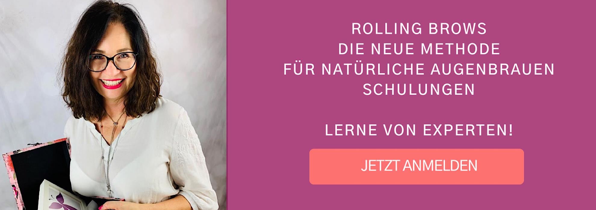 Schulung Rolling Brows Natürliche Augenbrauen
