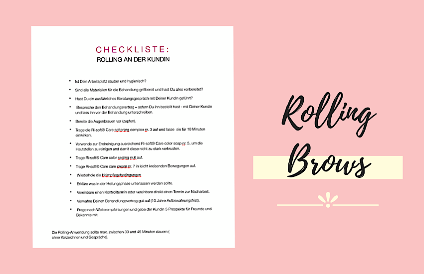 Checkliste Rolling Brows